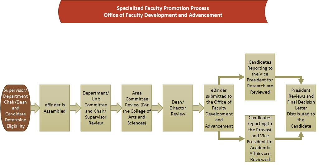 specialized faculty promotion flowchart